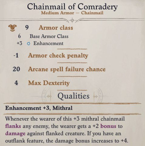 Camellia Chainmail of Comradery