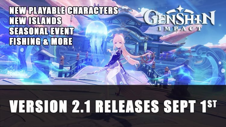 Genshin Impact Version 2.1 Releases September 1st