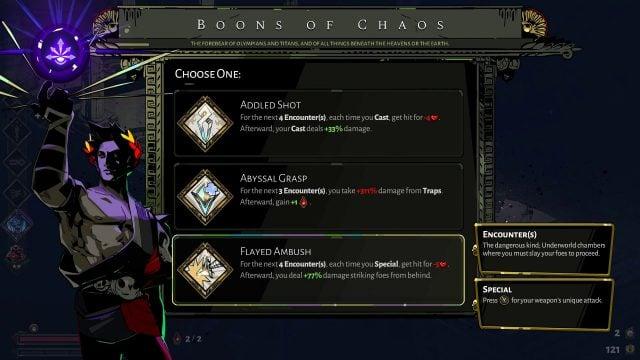 Hades Boons of Chaos (Manage High Risks High Rewards)