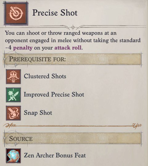 Precise Shot Pathfinder Wrath of the Righteous
