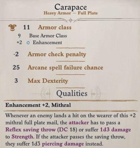Seelah Carapace Pathfinder WotR
