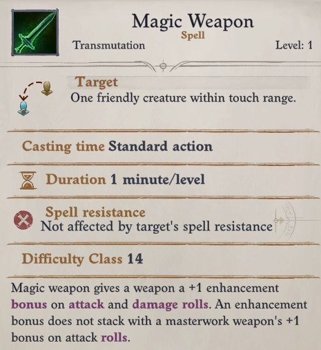 Seelah Magic Weapon Spell Pathfinder WotR