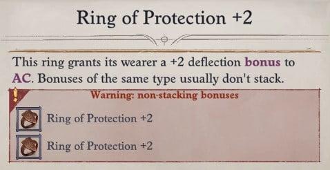 Seelah Ring of Protection 2 Non-stacking Bonuses Pathfinder WotR