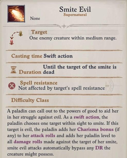 Seelah Smite Evil Ability Pathfinder WotR