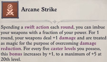 Arcane Strike Feat Eldritch Archer Magus Pathfinder Wrath of the Righteous Build