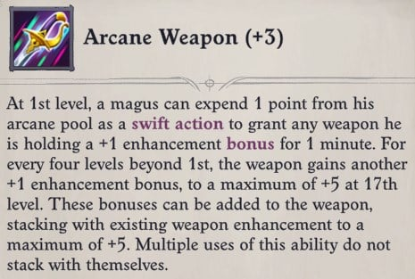 Arcane Weapon Eldritch Archer Magus Pathfinder Wrath of the Righteous Build