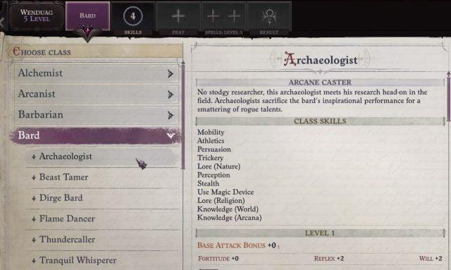 Archaeologist Bard at Level 5 Wenduag Companion Build Pathfinder WotR