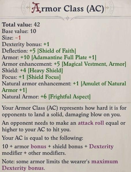 Armor Class Sosiel Pathfinder Wrath of the Righteous Build