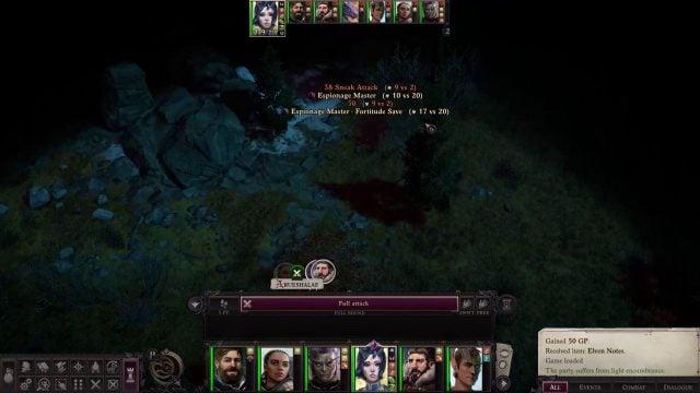 Arueshalae Espionage Master in Combat Arueshalae Pathfinder Wrath of the Righteous Build