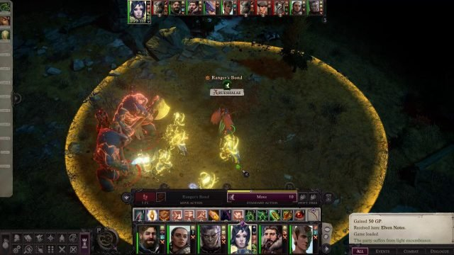 Arueshalae Ranger's Bond in Combat Arueshalae Pathfinder Wrath of the Righteous Build