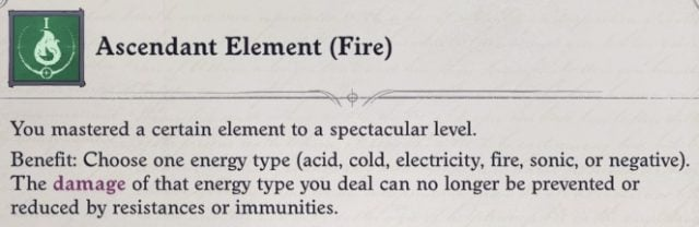 Ascendant Element (Fire) Mythic Feat Daeran Pathfinder Wrath of the Righteous Build