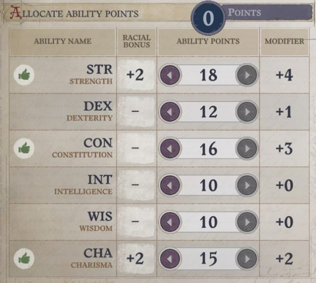 Attributes at Level 1 Primalist Bloodrager Pathfinder Wrath of the Righteous Build