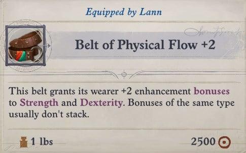 Belt of Physical Flow +2 Lann Companion Build Pathfinder WotR