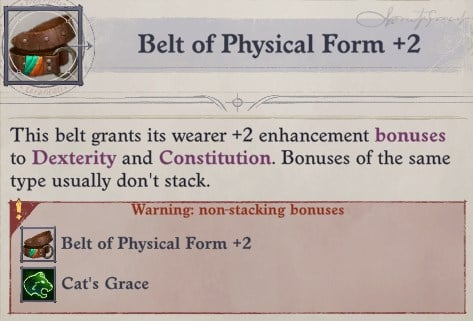 Belt of Physical Form Non-Stacking Bonuses Eldritch Archer Magus Pathfinder Wrath of the Righteous Build