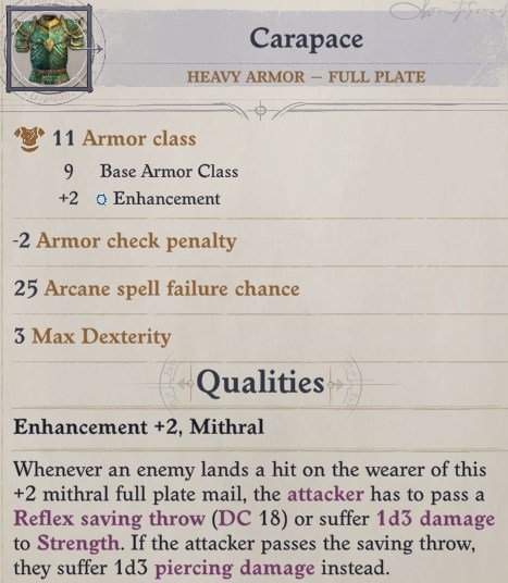 Carapace Heavy Armor Greybor Pathfinder Wrath of the Righteous Build