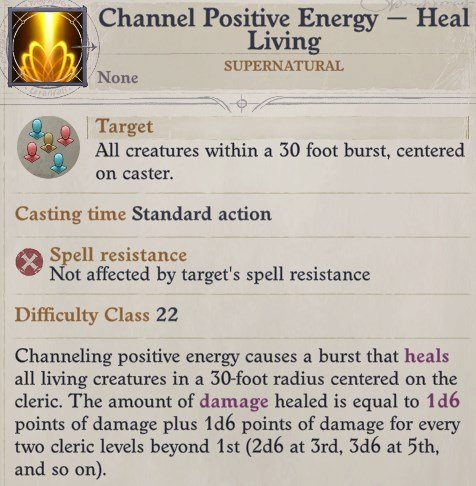 Channel Positive Energy Sosiel Pathfinder Wrath of the Righteous Build