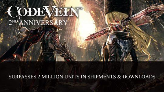 Code Vein Shipments and Downloads Surpasses 2 Million Milestone