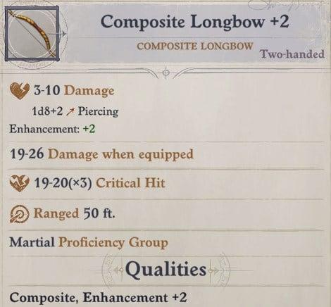 Composite Longbow +2 Arueshalae Pathfinder Wrath of the Righteous Build