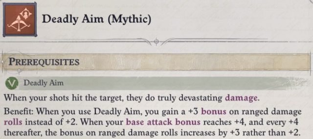 Deadly Aim (Mythic) Mythic Feat Eldritch Archer Magus Pathfinder Wrath of the Righteous Build