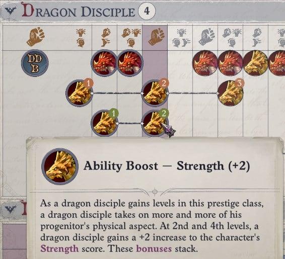 Dragon Disciple Prestige Class Wenduag Companion Build Pathfinder WotR