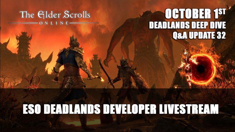 Elder Scrolls Online Deadlands Gates of Oblivion Year-End Stream October 1st