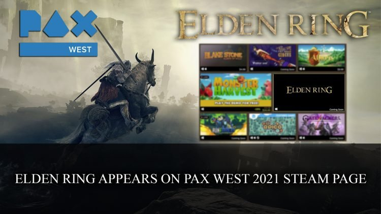 Elden Ring Appears on Pax West Expo Hall Steam Page