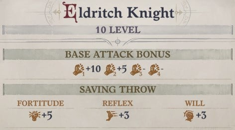 Eldritch Knight Base Attack Bonus Eldritch Archer Magus Pathfinder Wrath of the Righteous Build