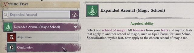 Expanded Arsenal (Magic School) (Conjuration) Ember Build Guide Pathfinder WotR