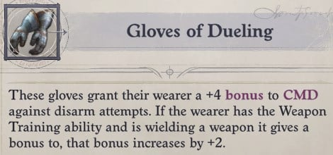 Gloves of Dueling Primalist Bloodrager Pathfinder Wrath of the Righteous Build