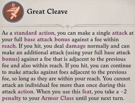 Great Cleave Feat Primalist Bloodrager Pathfinder Wrath of the Righteous Build