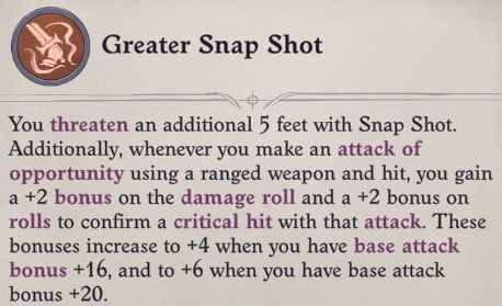 Greater Snap Shot Arueshalae Pathfinder Wrath of the Righteous Build