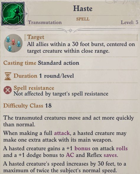 Haste Spell Eldritch Archer Magus Pathfinder Wrath of the Righteous Build