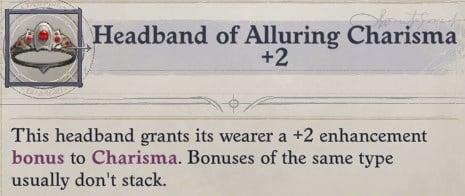 Headband of Alluring Charisma Daeran Pathfinder Wrath of the Righteous Build