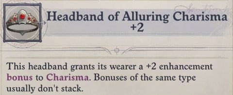 Headband of Alluring Charisma Delamere Pathfinder Wrath of the Righteous Build