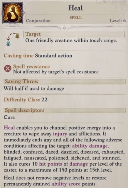 Heal Spell Faith Hunter Inquisitor Pathfinder Wrath of the Righteous Build