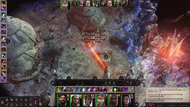 Hellfire Ray in Combat Nenio Build Pathfinder Wrath of the Righteous Guide