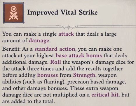 Improved Vital Strike Feat Faith Hunter Inquisitor Pathfinder Wrath of the Righteous Build