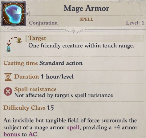 Mage Armor Spell Primalist Bloodrager Pathfinder Wrath of the Righteous Build