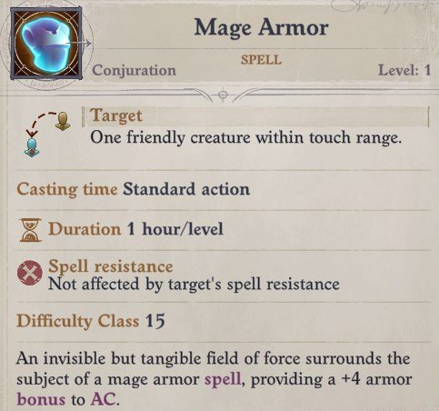 Mage Armor Spell Woljif Pathfinder Wrath of the Righteous Build