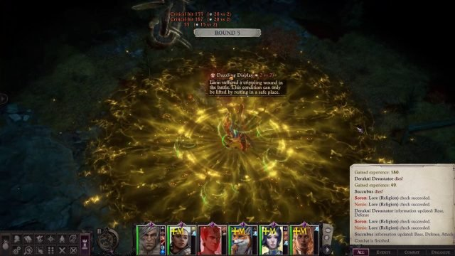 Melee Weapon Damage with Critical Hits and Dazzling Display in Combat Primalist Bloodrager Pathfinder Wrath of the Righteous Build