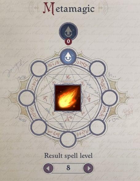 Metamagic (Heighten) of Fireball Daeran Pathfinder Wrath of the Righteous Build
