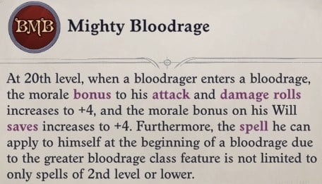 Mighty Bloodrage Primalist Bloodrager Pathfinder Wrath of the Righteous Build