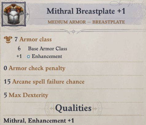 Mithral Breastplate +1 Daeran Pathfinder Wrath of the Righteous Build