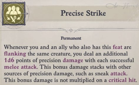 Precise Strike Feat Regill Pathfinder Wrath of the Righteous Build