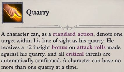 Quarry Ability Greybor Pathfinder Wrath of the Righteous Build