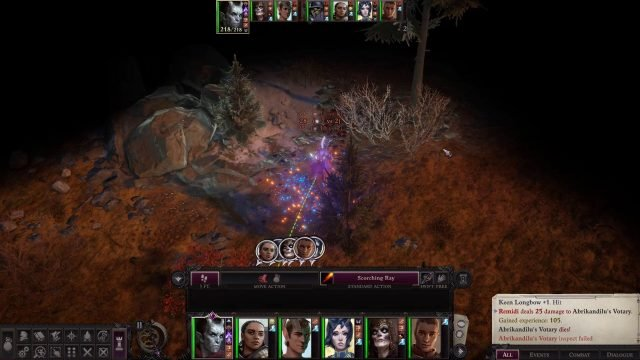 Scorching Ray in Combat Eldritch Archer Magus Pathfinder Wrath of the Righteous Build