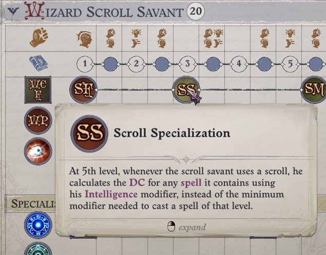 Scroll Specialization Bonus Feat Nenio Build Pathfinder Wrath of the Righteous Guide