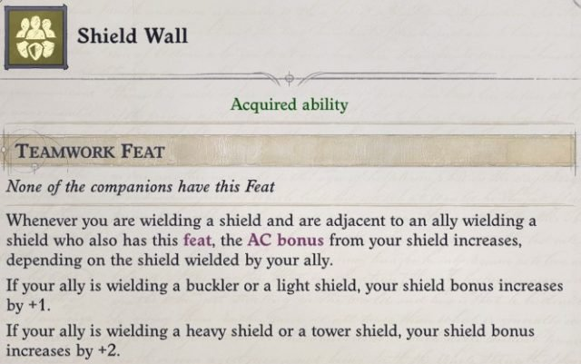 Shield Wall Teamwork Feat Sosiel Pathfinder Wrath of the Righteous Build
