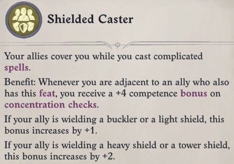 Shielded Caster Teamwork Feat Faith Hunter Inquisitor Pathfinder Wrath of the Righteous Build