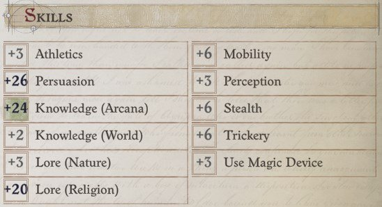 Skills at Level 20 Regill Pathfinder Wrath of the Righteous Build
